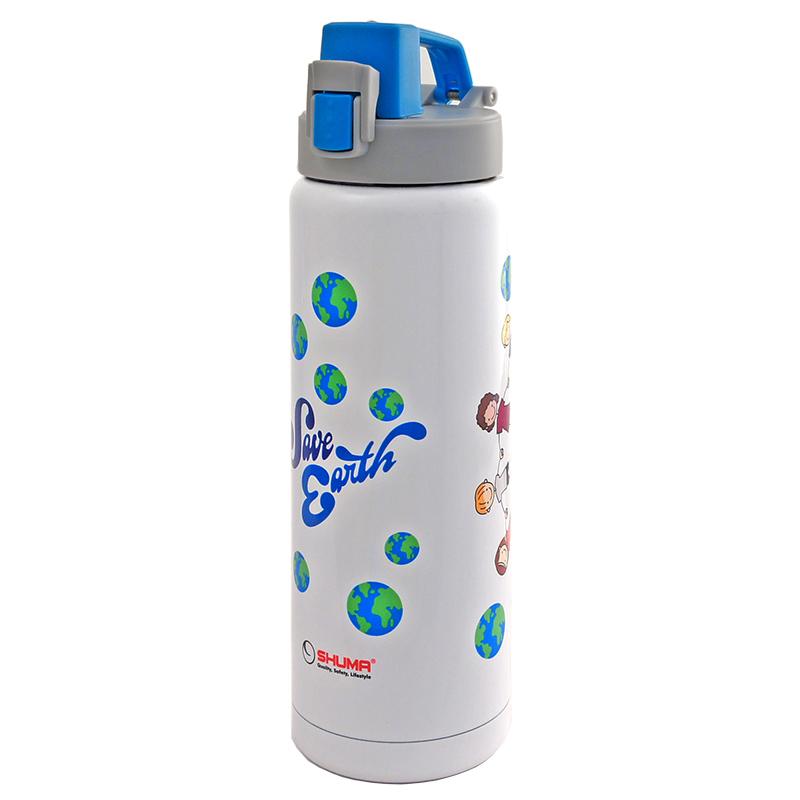SHUMA S/S Vacuum Sport Bottle Gel 0.6L - Save Earth - Botol Minum