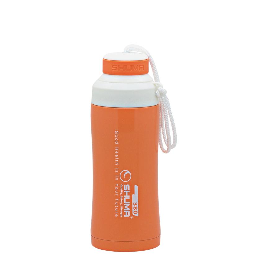 SHUMA S/S Vacuum Sport Bottle HD 0.38L - Orange - Botol Minum