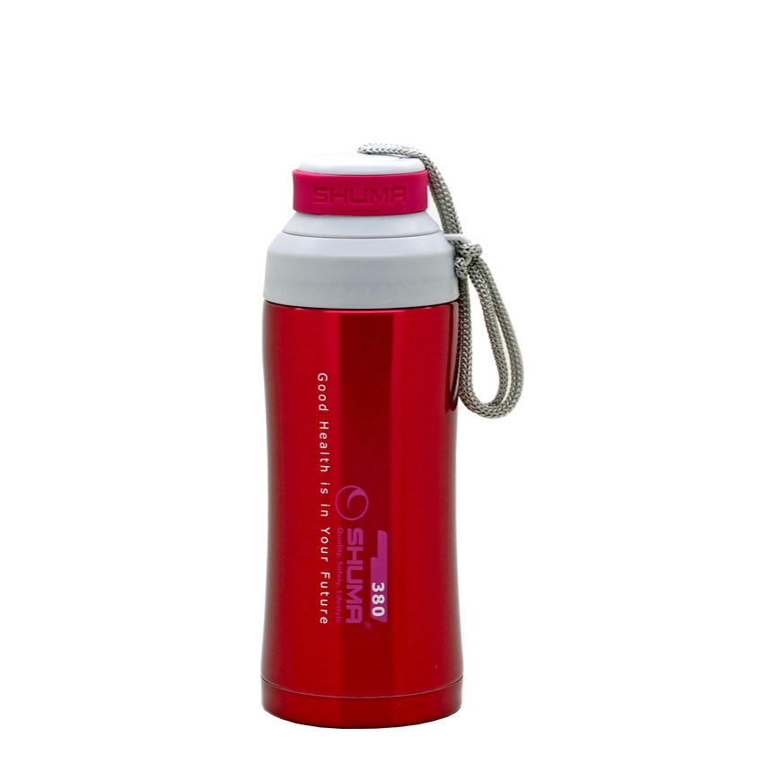 SHUMA S/S Vacuum Sport Bottle HD 0.38L - Red - Botol Minum