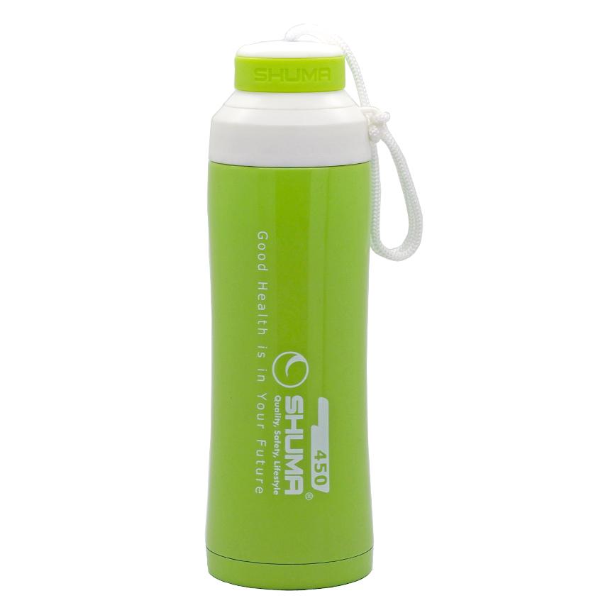 SHUMA S/S Vacuum Sport Bottle HD 0.45L - Green - Botol Minum