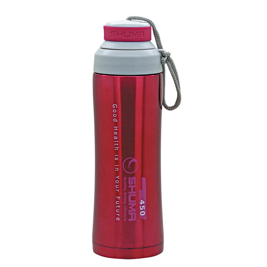 SHUMA S/S Vacuum Sport Bottle HD 0.45L - Red - Botol Minum