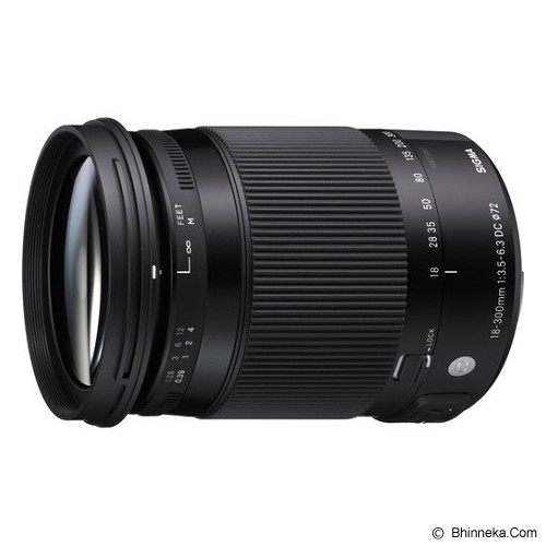SIGMA 18-300mm f/3.5-6.3 DC MACRO OS HSM Contemporary Lens for Canon - Camera Slr Lens