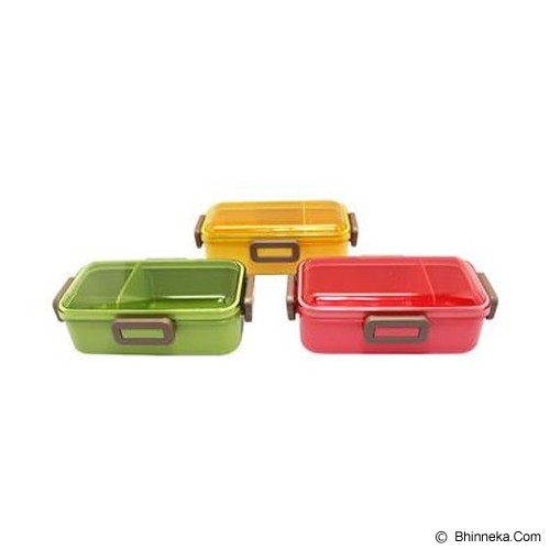 SKATER 4 Point Lock Lunch Box [PFLB6] - Yellow - Lunch Box / Kotak Makan / Rantang