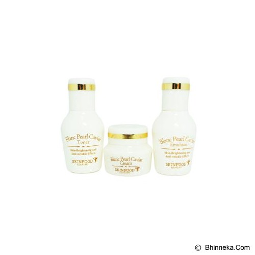 SKINFOOD Blanc Pearl Caviar Premium Kit - Krim / Pelembab Wajah