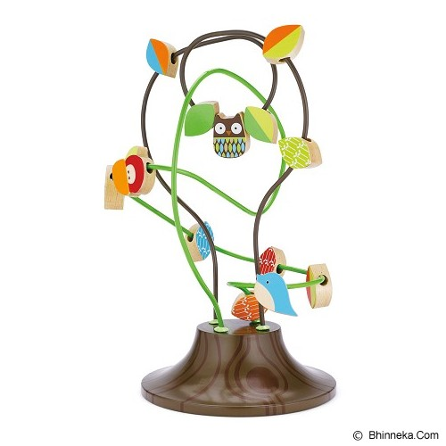 SKIP HOP TreeTop Friends Busy Bead Tree - Wooden Toy