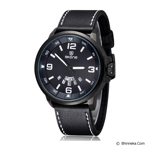 SKONE Casual Style Watch For Men [9345AG] - Black - Jam Tangan Pria Casual