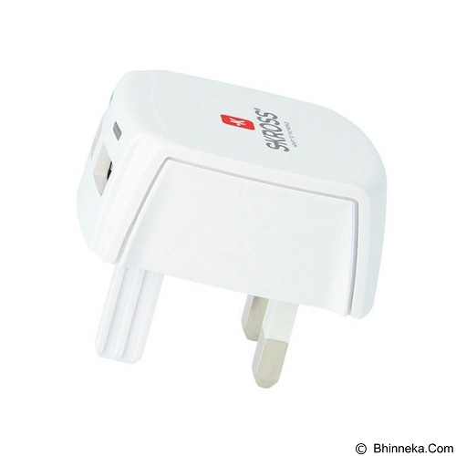 SKROSS World Adaptor UK USB - White - Universal Charger Kit
