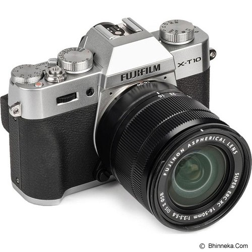 FUJIFILM Digital Camera X-T10 Kit1 - Silver (Merchant) - Camera Mirrorless