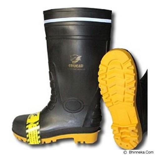 COUGAR Gumboot Black Size 45 - Safety Shoes / Sepatu Pengaman