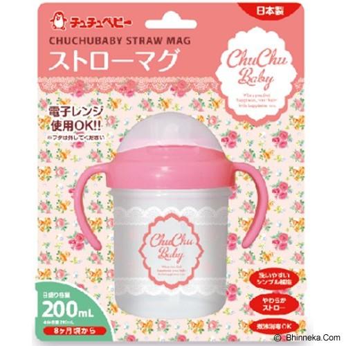 CHUCHU BABY Straw Mug Girls 200ml [4973210993966] - Perlengkapan Makan dan Minum Bayi