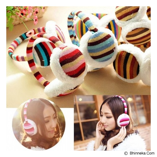 SSLAND Earmuffs Fashion Strip  [HO28354] - Brown White (V) - Bando