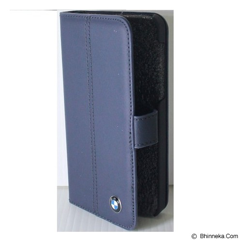 BMW Real Leather Book Type For BB Z10 [BMFLHZ10LN] - Blue - Casing Handphone / Case