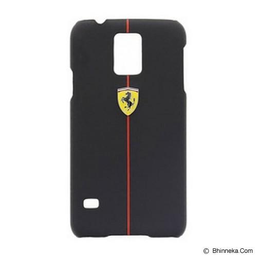 FERRARI S5 Rubber Hard Hard Case [FEFORHCS5BL] - Black - Casing Handphone / Case