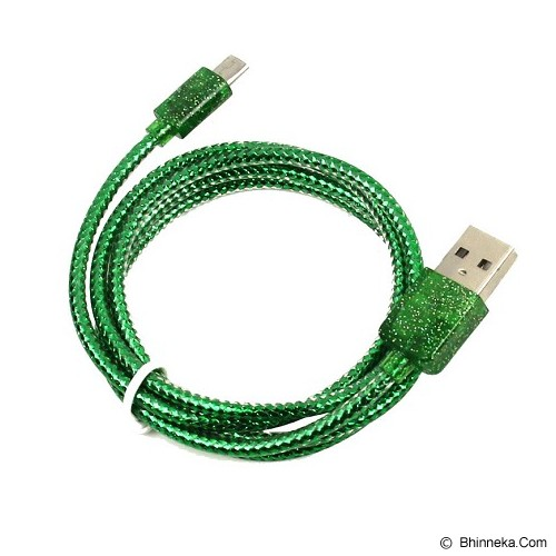 ANYLINX Cable Micro USB Parfum Glitter 1M - Hijau - Cable / Connector Usb