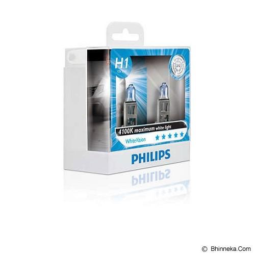 PHILIPS White Vision 4100K - H1 [12258WHV] - Lampu Mobil