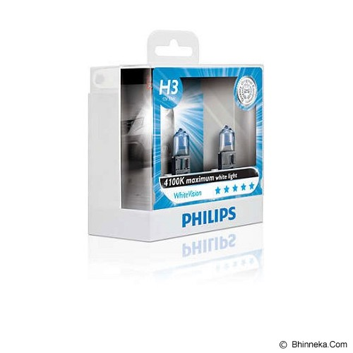PHILIPS White Vision 4100K - H3 [12336WHV] - Lampu Mobil