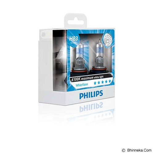 PHILIPS White Vision 4100K - HB3 [9005WHV] - Lampu Mobil