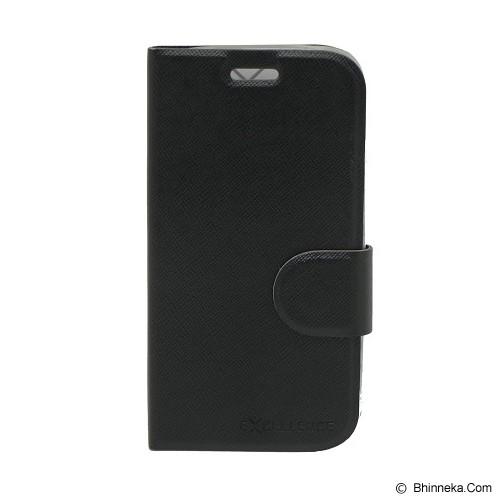 EXCELLENCE Leather Case Flip Smartfren Andromax C [ALCSFANCFTIE] - Black - Casing Handphone / Case