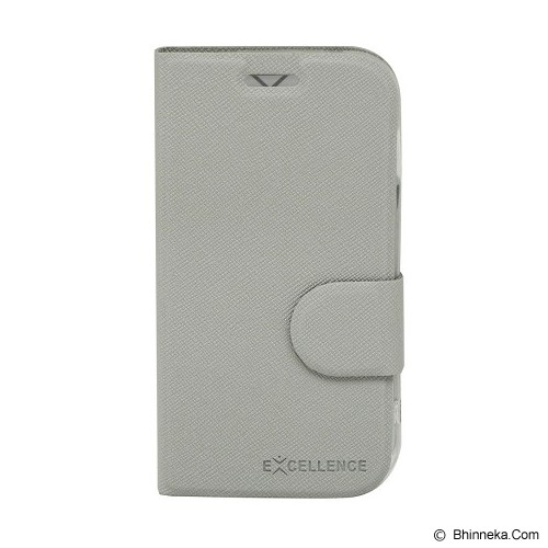 EXCELLENCE Leather Case Flip Smartfren Andromax C [ALCSFANCFTIE] - Grey - Casing Handphone / Case