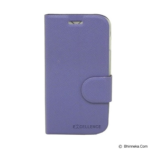 EXCELLENCE Leather Case Flip Smartfren Andromax C [ALCSFANCFTIE] - Purple - Casing Handphone / Case