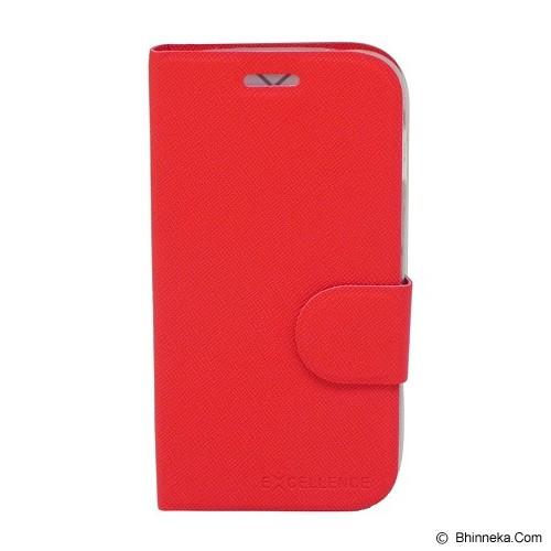EXCELLENCE Leather Case Flip Smartfren Andromax C [ALCSFANCFTIE] - Red - Casing Handphone / Case