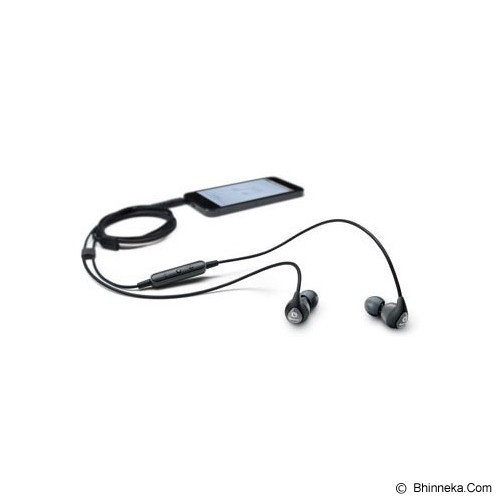 SHURE Earphones with Remote + Mic [SE112m+] - Grey - Earphone Ear Monitor / Iem