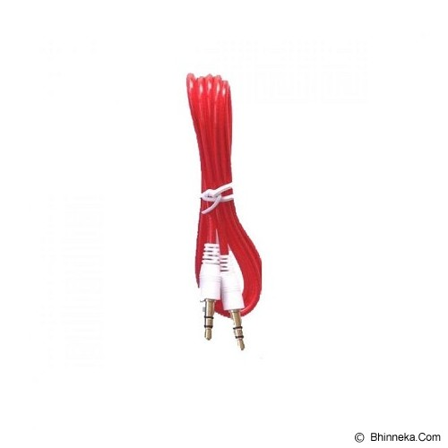 ANYLINX Cable 3.5 Audio Round 1M - Merah - Cable / Connector Analog