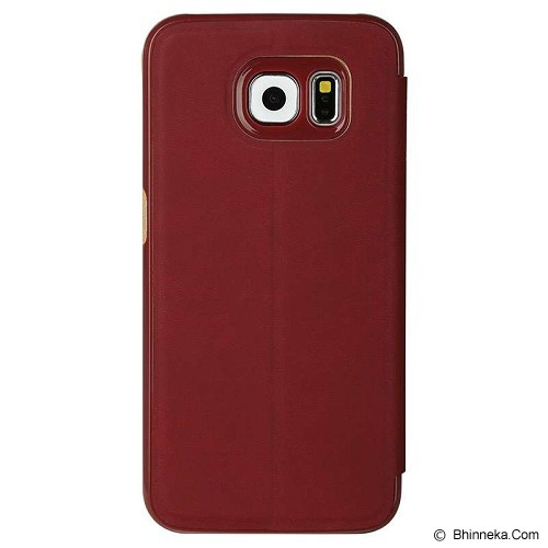 BASEUS Terse Leather Case Galaxy S6 [LTSAS6-SM09] - Merah - Casing Handphone / Case
