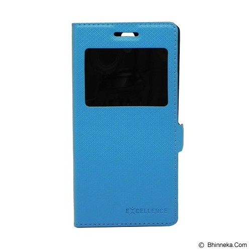 EXCELLENCE Leather Case Flip Shell View OPPO R1001 [ALCOPPJOFSVE] - Blue Mirror - Casing Handphone / Case