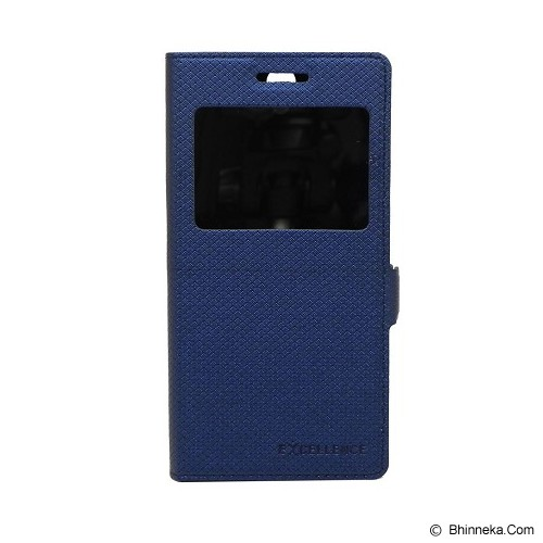 EXCELLENCE Leather Case Flip Shell View OPPO R831T [ALCOPPNSFSVE] - Navy Mirror - Casing Handphone / Case