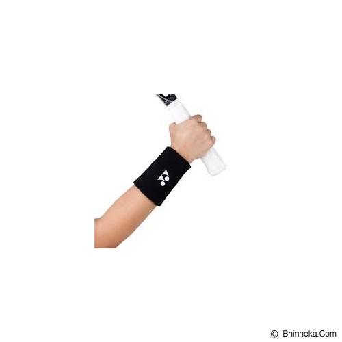 YONEX Wristband Tennis Long - Black - Pelindung Pergelangan Tangan / Wrist Support