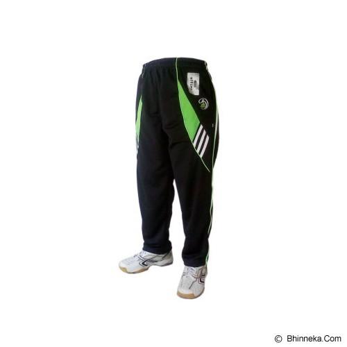 ALFINA Celana Panjang Training Size L - Black Green - Celana Olahraga Pria