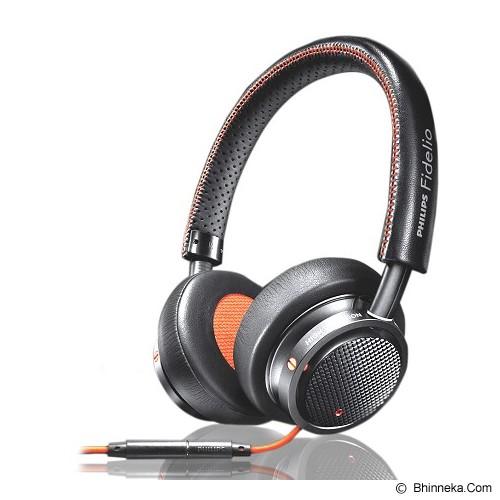 PHILIPS FHigh Definition Headphone with Microphone Fidelio [M1MKII] - Black - Headphone Portable