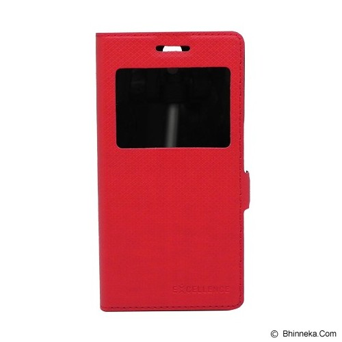 EXCELLENCE Leather Case Flip Shell View OPPO X9006 [ALCOPF7AFSVE] - Red Mirror - Casing Handphone / Case