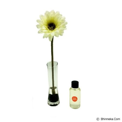 TAKI Reed Diffuser 50ml with Daisy Glass [AR-32] - Lily & Jasmine - Aromatherapy / Lilin Terapi