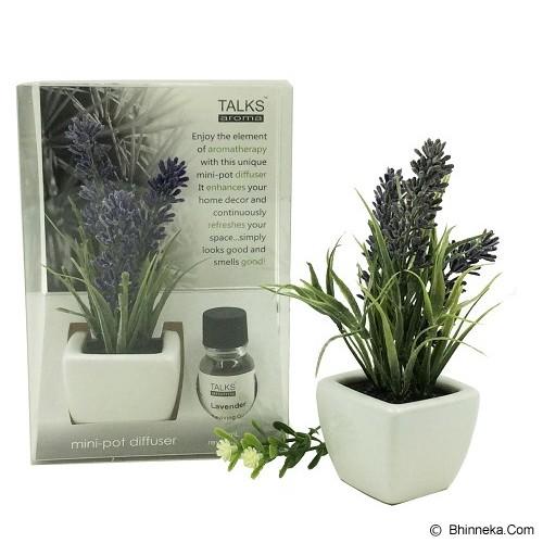 TAKI Cactus Pot Diffuser 10ml with Oil Lavender [AR-41C] - Ocean Mist - Aromatherapy / Lilin Terapi