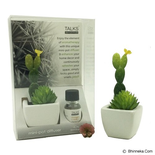 TAKI Cactus Pot Diffuser 10ml with Cactus Dream [AR-41D] - Lemon Grass - Aromatherapy / Lilin Terapi