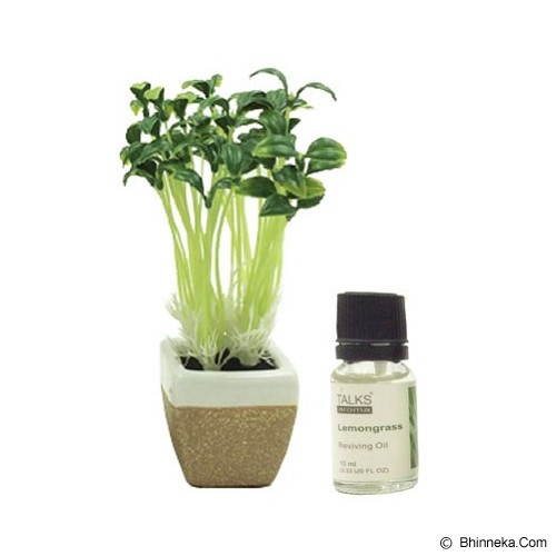TAKI Mini Pot Diffuser 10ml with Oil Bean Sprout [AR-42A] - Lemon Grass - Aromatherapy / Lilin Terapi