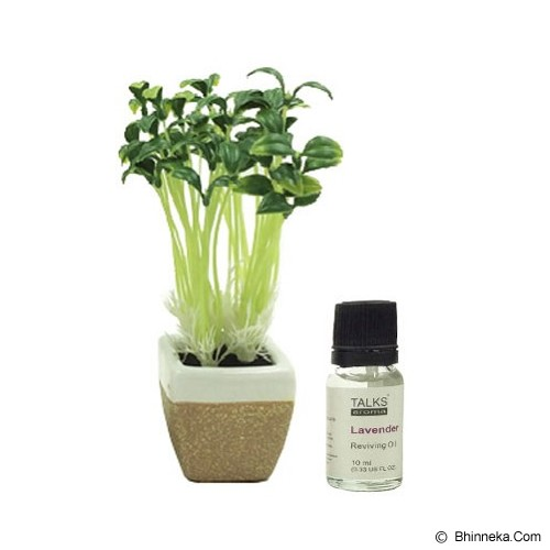 TAKI Mini Pot Diffuser 10ml with Oil Bean Sprout [AR-42A] - Lavender - Aromatherapy / Lilin Terapi