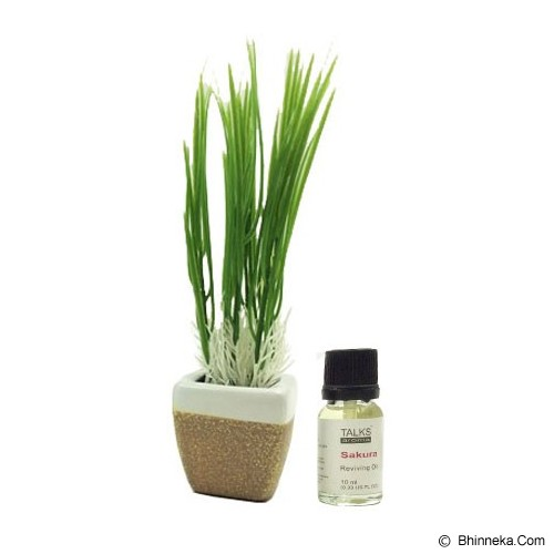 TAKI Mini Pot Diffuser 10ml with Oil Wheat [AR-42B] - Sakura - Aromatherapy / Lilin Terapi