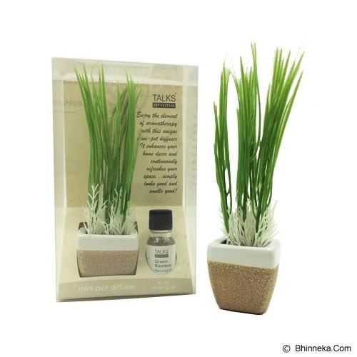 TAKI Mini Pot Diffuser 10ml with Oil Wheat [AR-42B] - Lavender - Aromatherapy / Lilin Terapi