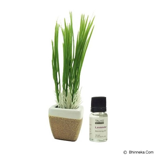 TAKI Mini Pot Diffuser 10ml with Oil Wheat [AR-42B] - Lavender - Aromatherapy / Lilin Terapi
