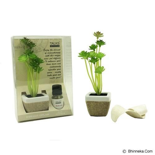 TAKI Mini Pot Diffuser 10ml with Oil Echeveria [AR-42D] - Sakura - Aromatherapy / Lilin Terapi