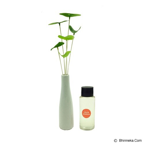 TAKI Reed Diffuser 30ml with Water Lily Ceramic Pot [AR-53] - Lily & Jasmine - Aromatherapy / Lilin Terapi