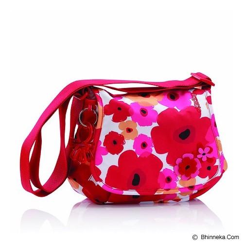 OKIEDOG Genie Flower Power [28294] - Red - Diapers Bag / Tas Popok