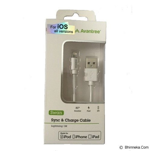 AVANTREE Swan Sync & Charge Cable Lightning 1M - White - Cable / Connector Usb