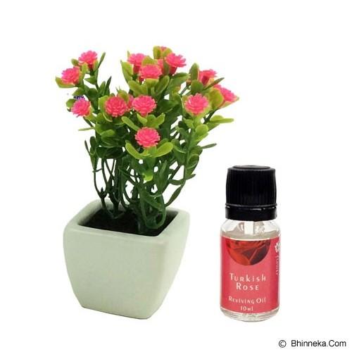 TAKI Flower Pot Diffuser 10ml with Baby's Breath Flower [FL-02C] - Turkish Rose - Aromatherapy / Lilin Terapi