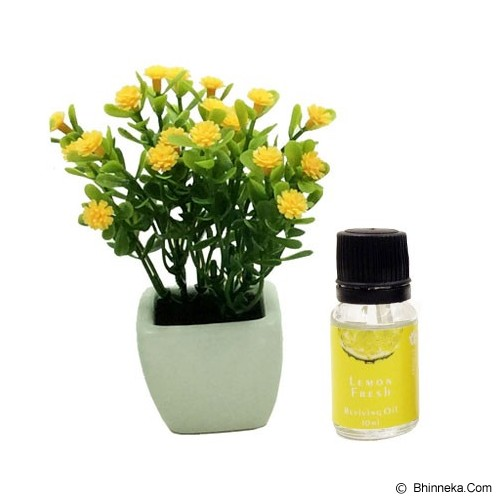 TAKI Flower Pot Diffuser 10ml with Baby's Breath Flower [FL-02C] - Lemon Fresh - Aromatherapy / Lilin Terapi