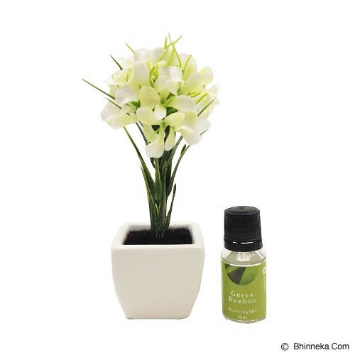 TAKI Flower Pot Diffuser 10ml with Hyacinth Flower [FL-02D] - Green Bamboo - Aromatherapy / Lilin Terapi