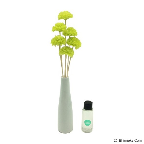 TAKI Flower Ceramic Diffuser 30ml [FL-03] - Green Bamboo - Aromatherapy / Lilin Terapi